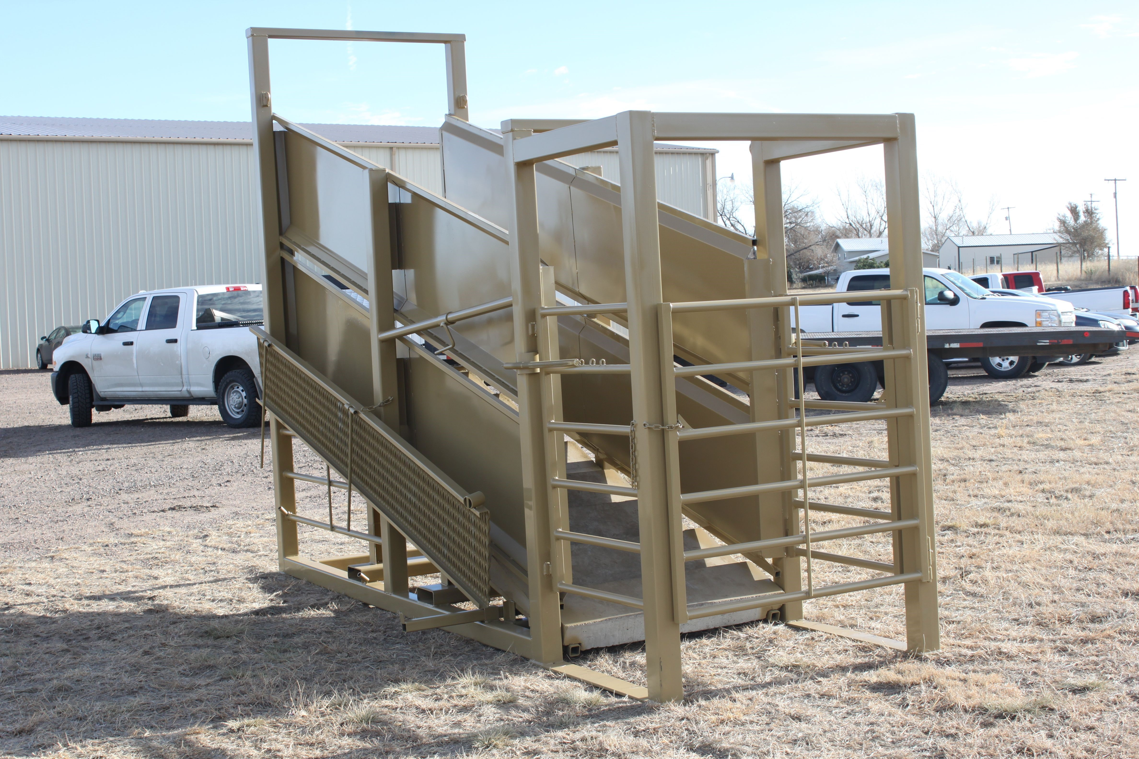 image of cattle loading chutes by Weiss Master