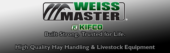 hay handling and livestock equipment by Weiss Master